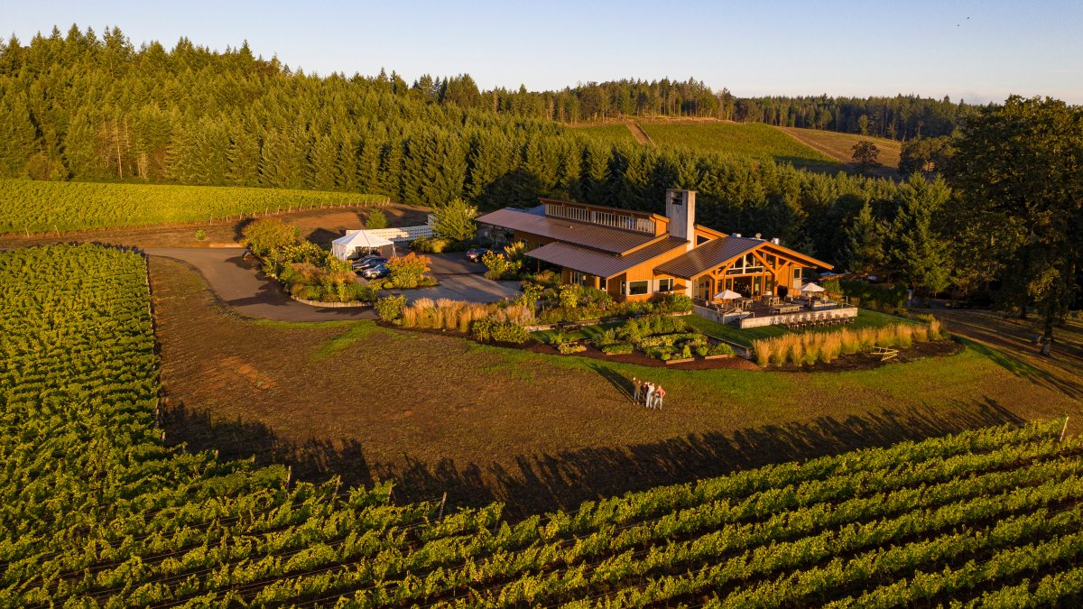 Overhead Shot of Entire Estate Winery