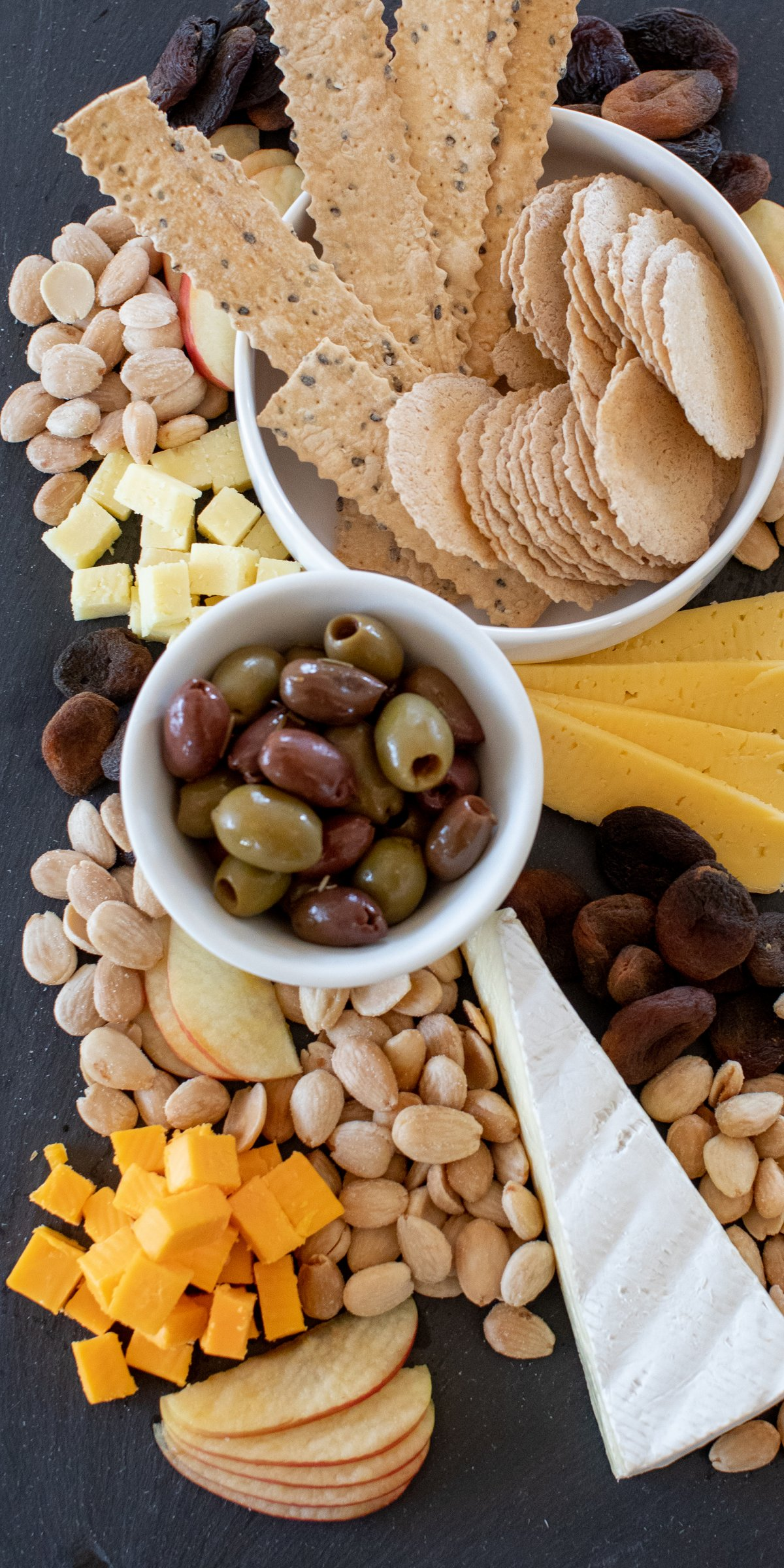 Platter of Nuts, Olives, Cheese and Bread