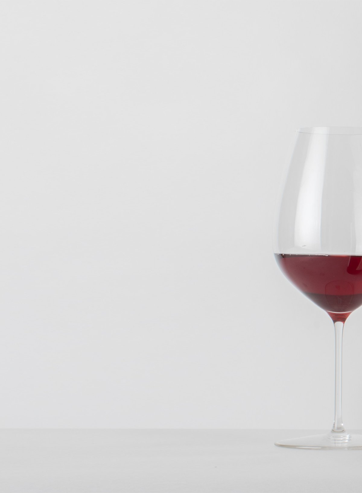 Two wines with glasses